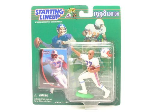 Starting Lineup EDDIE GEORGE / HOUSTON OILERS 1998 NFL Action Figure & Exclusive NFL Collector Trading Card