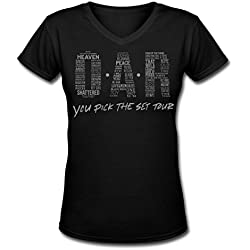 SR BIG girl's O.A.R. tour women's t shirt Black L