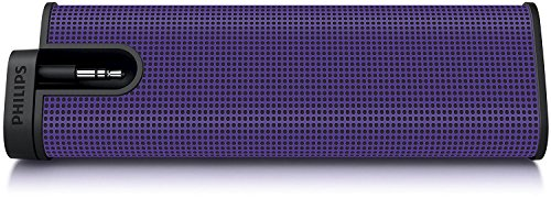 Philips SBA1610 Portable Mini Speaker System For iPod, Smartphones, iPhone, MP3 Players, Purple (Non-Retail Packaging)