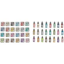 Tim Holtz and Ranger Distress Oxide Inks - Complete set of 24 Distress Oxide Ink pads and 24 Distress Oxide Ink Reinkers and Bonus Oxide Ink Color Chart