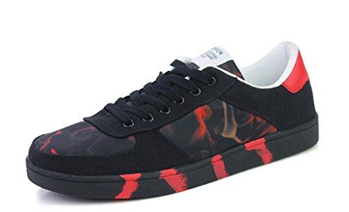 Tda Heren Moderne Kleurendruk Synthetische Casual Skateboard Schoenen Rood