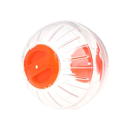 Forgun Pet Hamster Exercise Rodent Mice Hamster Gerbil Rat Ball Plastic Playing Toys (Orange)