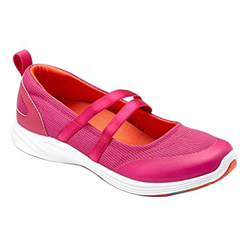 VIONIC Womens Agile Opal Slip-On Mary Jane Sneaker Pink Size 6 Wide