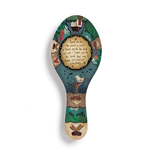 Table Prayer Thank God For Everything Multicolored 10 x 4 Melamine Spoon ()