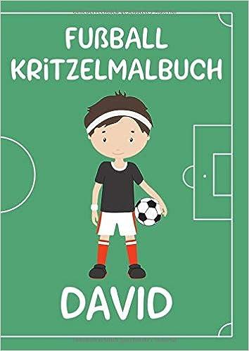 Fussball Kritzelmalbuch David Personalisiertes Din A4