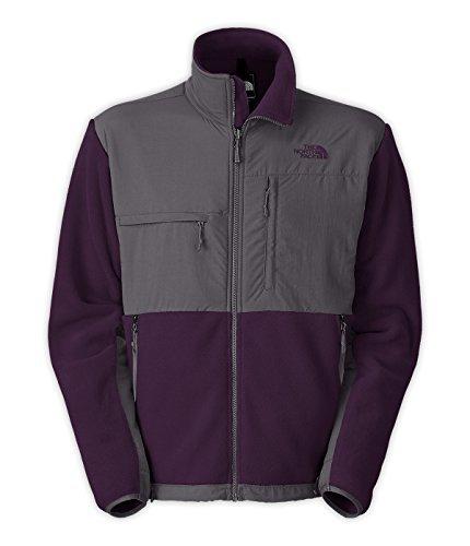 The North Face Men's Full Zip Denali Jacket Recycled Dark Eggplant Purple/Vanadis Grey Large