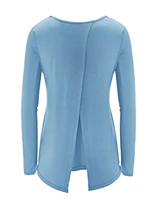 REGNA X Women's Long Sleeve Open-Back Active Yoga Top (2 STYLE/S-3XL)