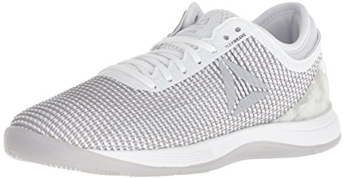 Reebok Women's CROSSFIT Nano 8.0 Flexweave Cross Trainer, White/Skull Grey/Pure Silver, 7.5 M US