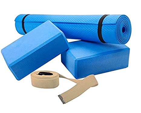 Amazon.com : SC Sports Yoga Set With Mat, 2 Blocks And Rope ...