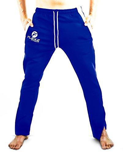 Fitted Sweat Pants | Sweatpants Bodybuilding Pants Joggers Gym Blue X-Large