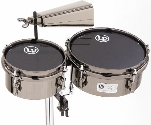Latin Percussion John Dolmayan Mini Timbales with Cowbell and Mount Pack by Latin Percussion
