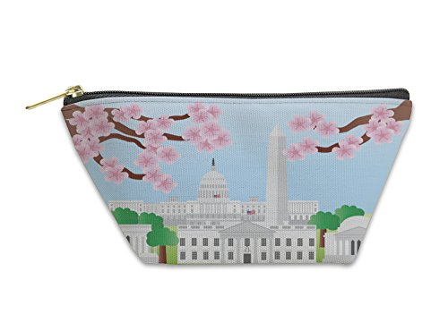 Gear New Accessory Zipper Pouch, Washington Dc Landmarks With Cherry Blossom, Small, 5580511GN by Gear New
