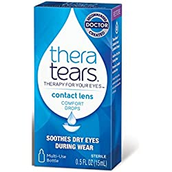 TheraTears Contact Lens- Comfort Drops- 0.5FL OZ(15mL)