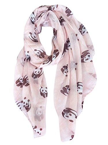 Panda Gift (GERINLY Animal Print Scarves: Cute Pandas Pattern Women Wrap Scarf (Light Pink))