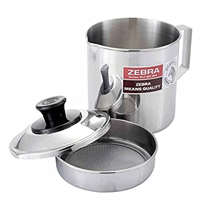 Amazoncom Set of 2 Oil Storage Container Stainless Steel Zebra