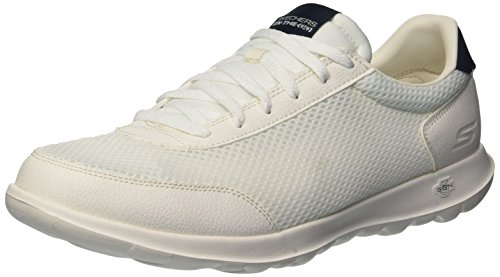Go Azul Skechers15462 Lite Mujer Walk Flare Blanco Marino dxqYUSqA