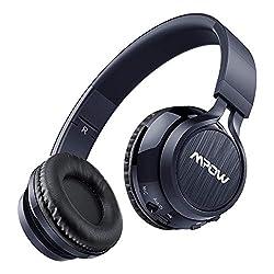 Mpow-Thor-Cascos-Bluetooth-Inalmbrico-Auriculares-Bluetooth-de-Diadema-con-Micrfono-Plegable-Manos-Libres-y-35mm-Cable-de-Audio-para-TV-PC-Movil-Mac-Azul ES