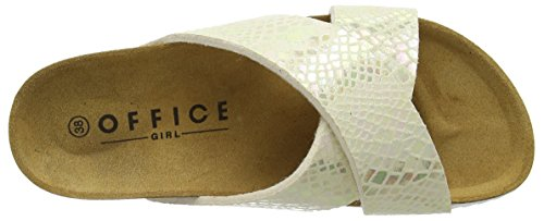 Office Women's Hoxton Open Toe Sandals White (Nude Pearl Snake) c36Ats