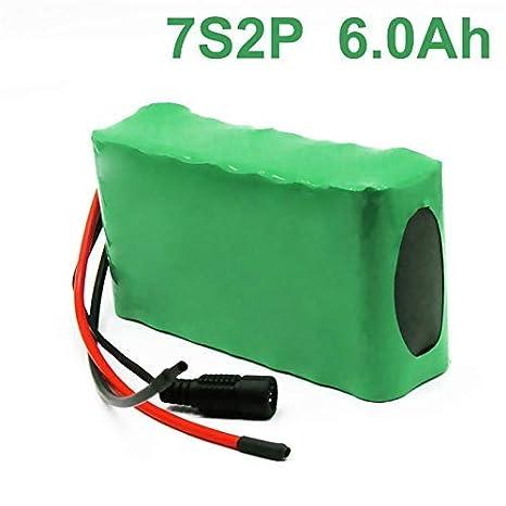 Amazon.com: 24V 6Ah 25.9V 18650 Li-ion Batería Pack E-Bike ...