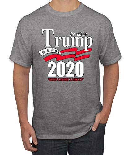 Trump 2020 Shirt Keep America Great T-Shirt Reelect President Donald Trump Mens Womens Non-PC Tee, Heather Grey, Large