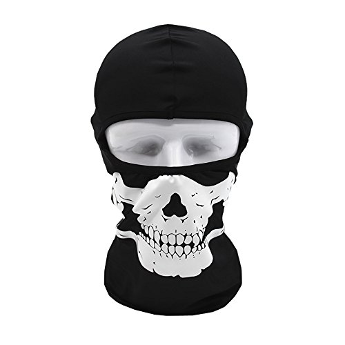 Clearance Sale!DEESEE(TM)Tactical Motorcycle Cycling Hunting Outdoor Ski Skull Face Mask Helmet (B)