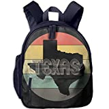 Texas Star Double Zipper Waterproof Children Schoolbag With Front Pockets For Youth Boys Girls