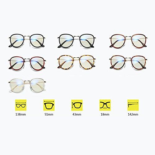 Inlefen force de design décontracté lunettes Cadre verres en Mode bleus anti métal Black sans de optiques rqROr6C