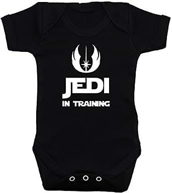 Jedi in Training body para bebé/bebé/camiseta/chaleco Star Wars negro 0A 12meses negro negro 0-3 Meses