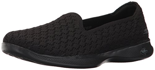 Skechers Performance Women's Go Step Lite-Petal 14723 Walking Shoe,Black,8 M US