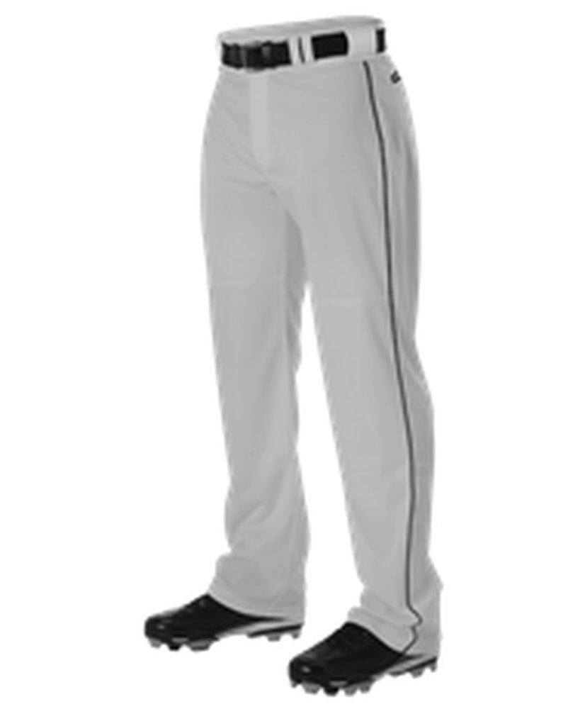 Alleson Athletic PANTS メンズ B071XCFDWM Medium|Grey, Black Grey, Black Medium