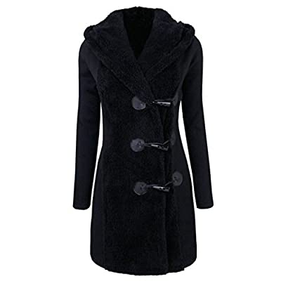 Mose New Fashion Women Long Sleeve Winter Warm Slim Thicker Buttons Parka Hoodie Coat Overcoat