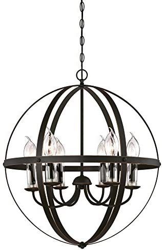 Westinghouse Lighting 6339000 Stella Mira Six-Light Outdoor Chandelier
