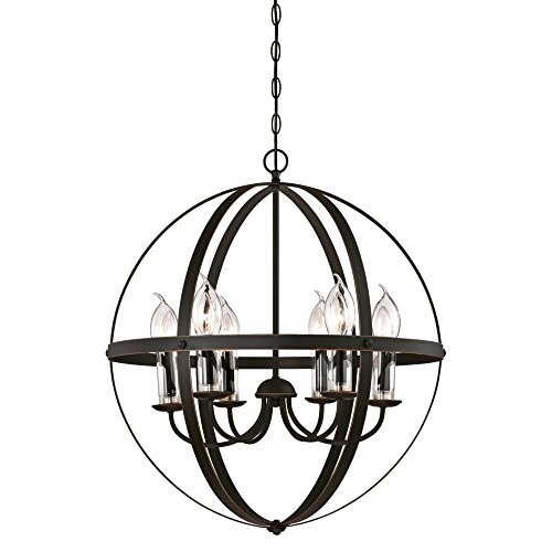 Westinghouse Lighting 6339000 Stella Mira Six-Light Outdoor Chandelier, Oil Rubbed Bronze.