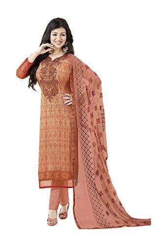 Fashions Trendz Indian Women Designer Partywear Ethnic Traditonal Orange Salwar Kameez by Fashions Trendz