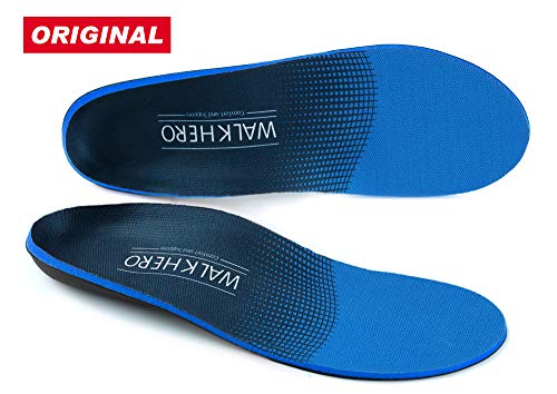 Plantar Fasciitis Feet Insoles Arch Supports Orthotics Inserts Relieve Flat Feet, High Arch, Foot Pain Mens 16-16 1/2