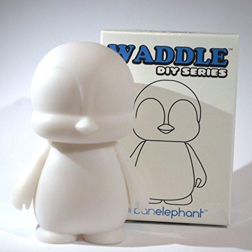 Waddle DIY Do-It-Yourself Blank White Designer Vinyl Mini Figure