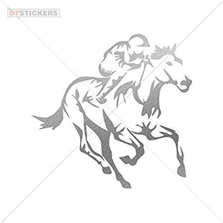 Amazon Com Hobby Vinyl Decal Horse Racing Jockey Hobby Decor 6 X 5