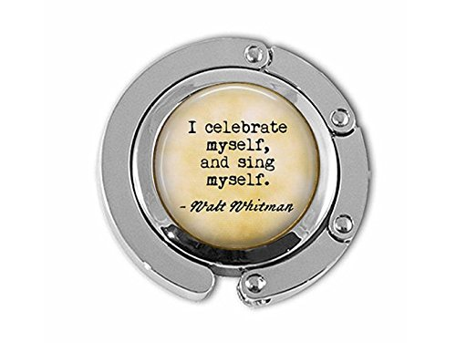 Walt Whitman - I Celebrate Myself, and Sing Myself - Inspirational Gift - Whitman Quote Hanger - Poem Jewelry - Poetry Gift -