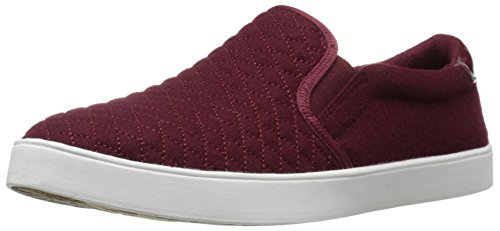 Dr. Scholl's Women's Madison Fashion Sneaker, Wine Quilted Flannel, 8.5 M US