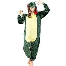 iSZEYU Adult Green Dinosaur Onesie Pajamas Halloween Christmas Costumes