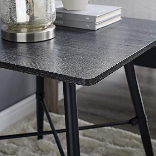 Classic Brands Mid-Century Modern Retro End Table, Rustic Black