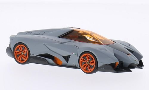 Lamborghini Egoista , Matt Grey/orange, Model Car, Ready Made, Look Smart  1:43: Look Smart: Amazon.co.uk: Toys U0026 Games
