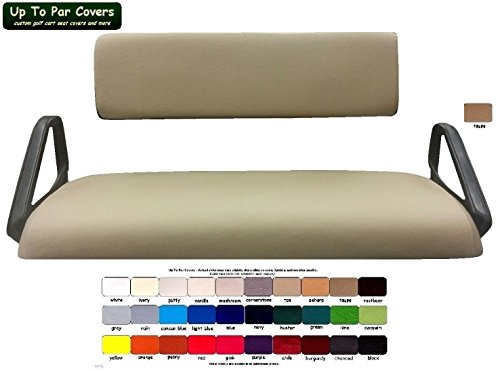 E-Z-Go Work Horse Custom Golf Cart Seat Cover Set Made with Marine Grade Vinyl - Staple On - Choose Your Color From Our Color Chart! by Up To Par Covers