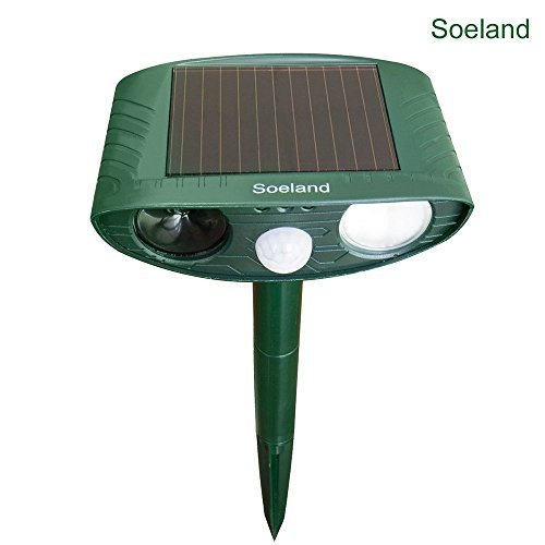 Price comparison product image Outdoor Ultrasonic Pest Repeller, Soeland Waterproof Solar Animal Repeller, Electronic Animal Scarer, Mole Repellent, Squirrel Repellent, Pest Control, Cat Repellent, Dog Repellent