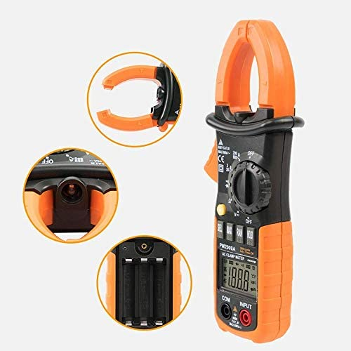 ZYL-YL Digital Clamp Meters Auto Range Clamp Meter Ammeter Voltmeter Ohmmeter w/LCD Backlight and Current Voltage Tester MS2008A