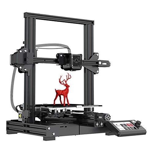 VOXELAB Aquila three-D Printer, DIY FDM All Metal three-D Printers Kit with Removable Carborundum Glass Platform, Resume Printing Function, Print Size 220x220x250mm (Black)