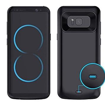 Funda de Batería Externa Ultra Fino, Mbuynow 5500 mah Funda Protectora Cargador Integrada Recargable de Alta Capacidad para Samsung Galaxy S8 +