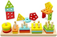 TOLOLO Montessori Toys for 1 2 3 Year Old Boys Girls, Educational Learning Toy for 1-4 Year Old Boy Girl Gifts