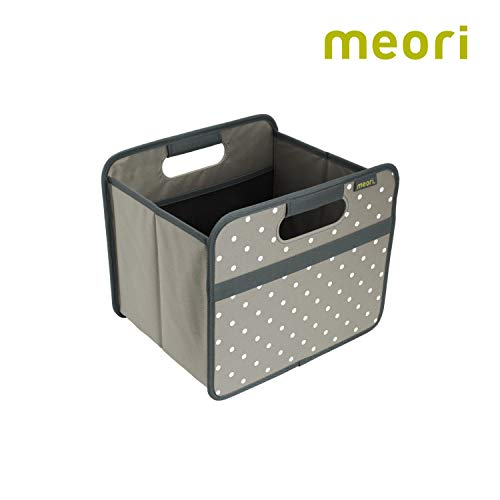 meori Foldable Classic Small, Stone Grey with Dots, Collapsible Box to Organize, Store and Carry Anything and ()