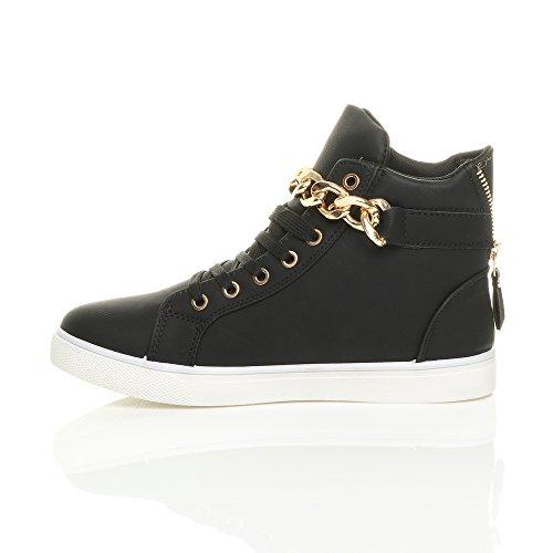 tennis chaîne de chaussures bas baskets bottines pointure talon or haut Femmes 7EO1R8qw7